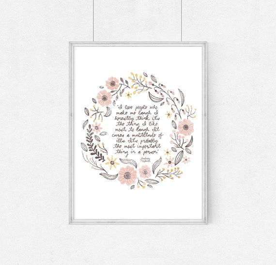 Poster Audrey HepburnI love people who make me by WeJustLikePrints