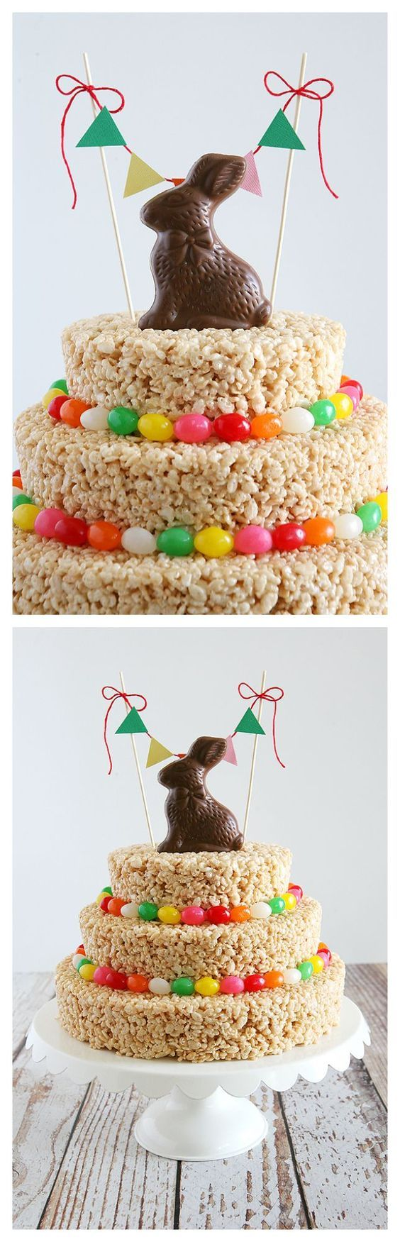 Easter Rice Krispies Treat Cake