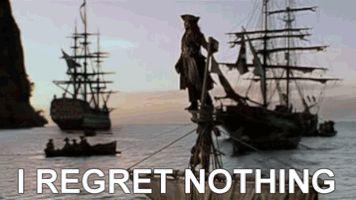 johnny depp ship captain pirates jack sparrow GIF