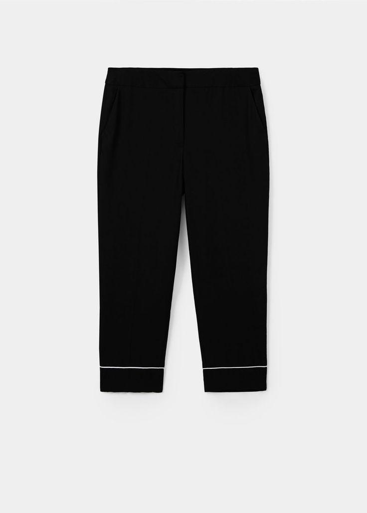 Miękkie spodnie w stylu piżamowym | VIOLETA BY MANGO