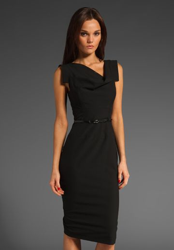 Classic Jackie O Dress in Black / Black Halo