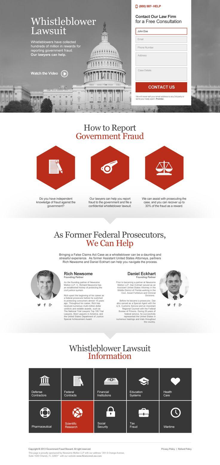Landing page design by joebanget for GovernmentFraudReward. #landingpage #design #sales #graphicdesign