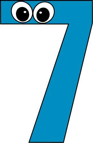 Cartoon Number Seven