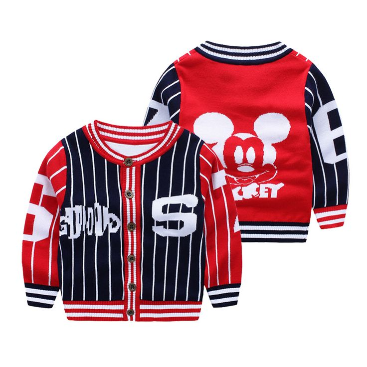 >> Click to Buy << Minnie Cute Baby Boys girls Sweater coat children cotton sweater Winter kids baby jacket knitted sweater Baseball clothes #Affiliate