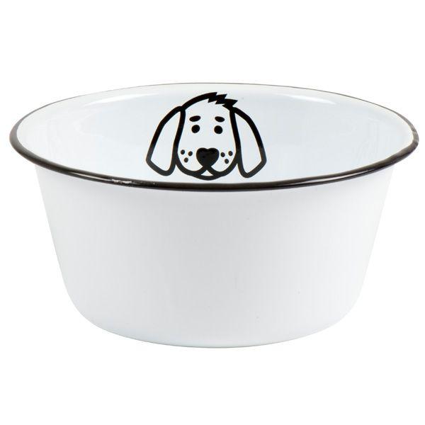Ib Laursen Fressnapf / Wasserschüssel für Hunde aus Emaille