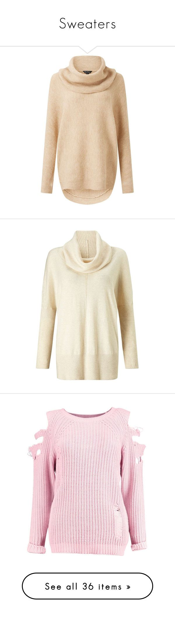 """""""Sweaters"""" by wanda-india-acosta ❤ liked on Polyvore featuring tops, sweaters, camel, camel cowl neck sweater, camel sweater, miss selfridge, beige top, cowl neck sweater, cream and cream cowl neck sweater"""