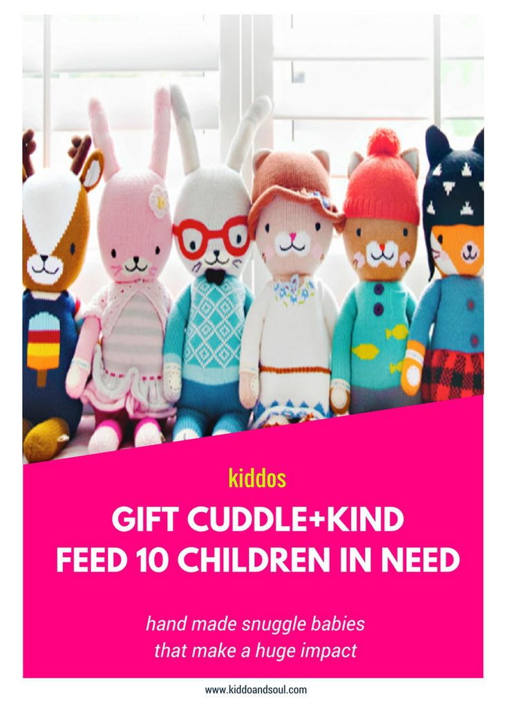 """I absolutely LOVE a gift that gives back. And, Cuddle + Kind has gotten the """"giving back"""" part so right while offering something unique and totally snugable. gifts that give back, gifts for a good cause, gifts for kids, handmade gifts, fair trade"""
