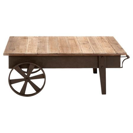 Found it at Wayfair - Flat Cart Coffee Table in Natural