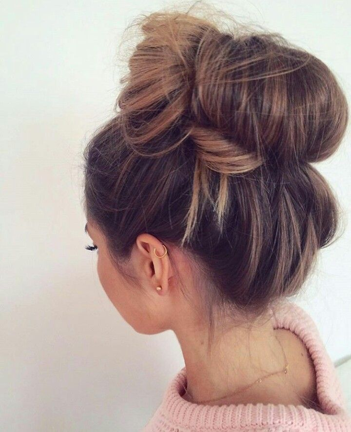 What a cute messy bun! It's very voluminous, and so it makes sure you don't look bald in photos and such, but is also super laid back looking. -Xoxo, Ari