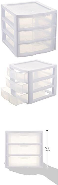 Plastic Storage Containers Drawers. Sterilite ClearView 3 Storage Drawer Organizer.  #plastic #storage #containers #drawers #plasticstorage #storagecontainers #containersdrawers