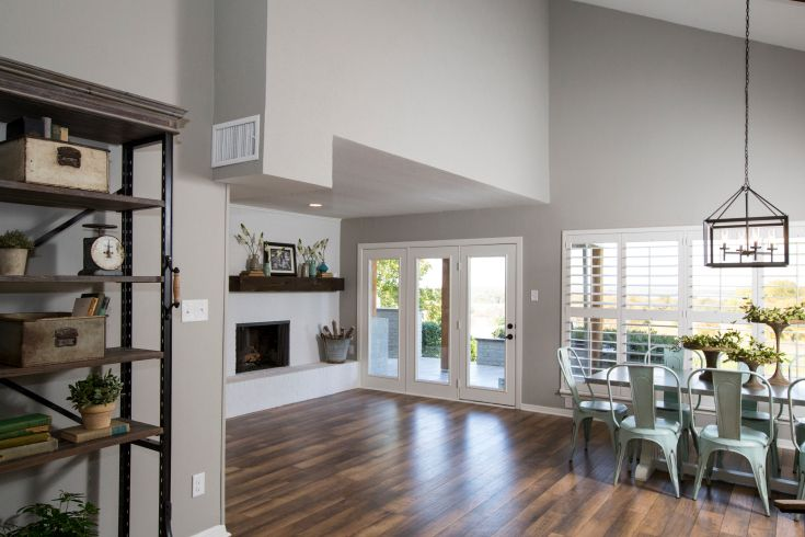 As seen on HGTV's Fixer Upper, Thursdays at 11/10c--> http://hg.tv/10t15: Wall Colors, Floor Colors, Open Spaces, Colors Palat, Hardwood Floors, Paintings Colors, Floors Colors, Paint Colors, Nice Spaces