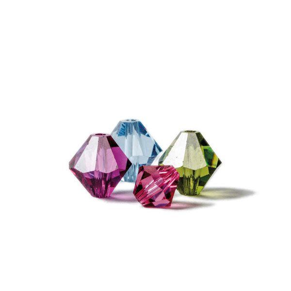 Kristallglaskegel von Swarovski Elements - die Bicone Perle bei Glücksfieber