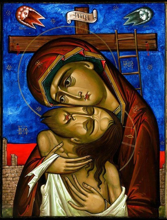 The crucifixion & the theotokos - Extreme Humility