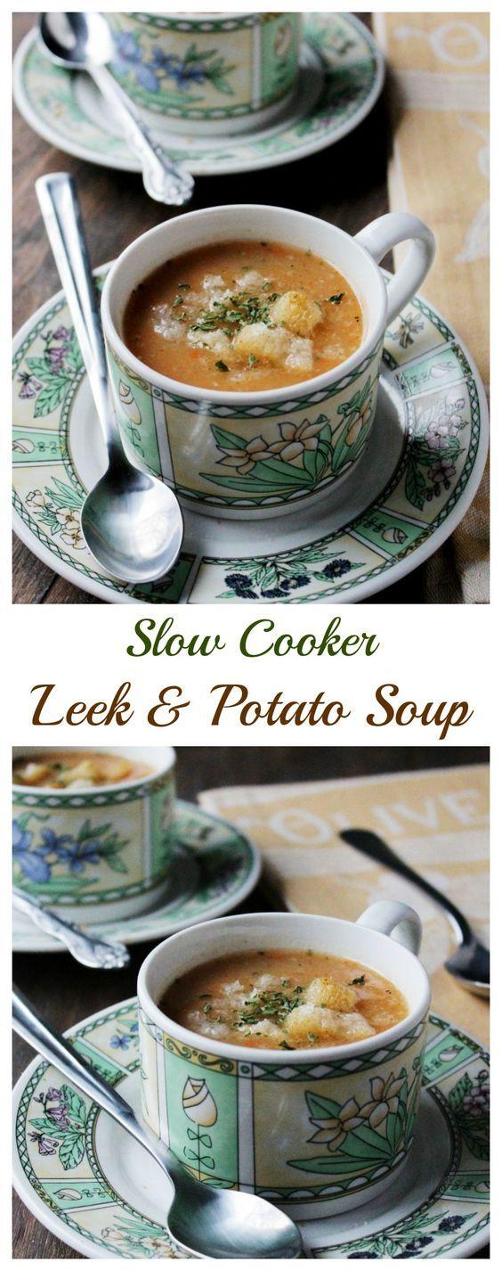 Slow Cooker Leek and Potato Soup | .diethood |