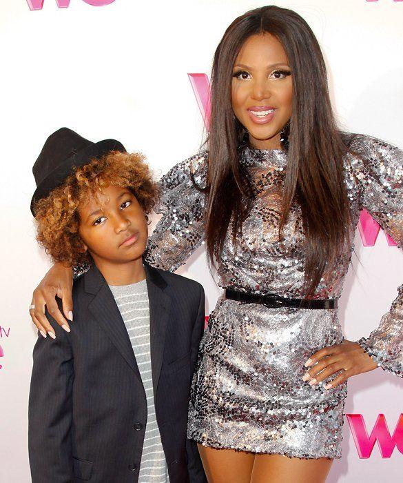 Toni Braxton With Son Diezel