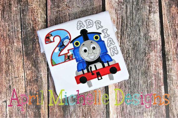 Thomas Train Birthday Shirt Boys Birthday by AMDesignsTX on Etsy