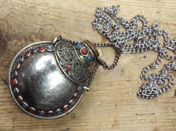 Stash jar boho necklace www.HOTSHAMAN.etsy.com