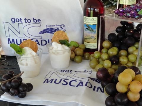 NC Muscadine Ice Cream. Most of us remember picking muscadine grapes right off our grandmother's vine and enjoying that sweet and unique flavor that only a muscadine can deliver. This ice cream will bring back the flavor of those memories. For more information about our #GottoBeNC Muscadine grapes go to: www.ncmuscadine.org