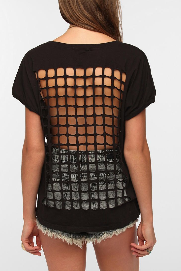 Truly Madly Deeply Grid-Back Tee  #UrbanOutfitters