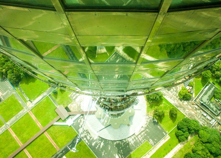 Останкинская телебашня. Вид сверху