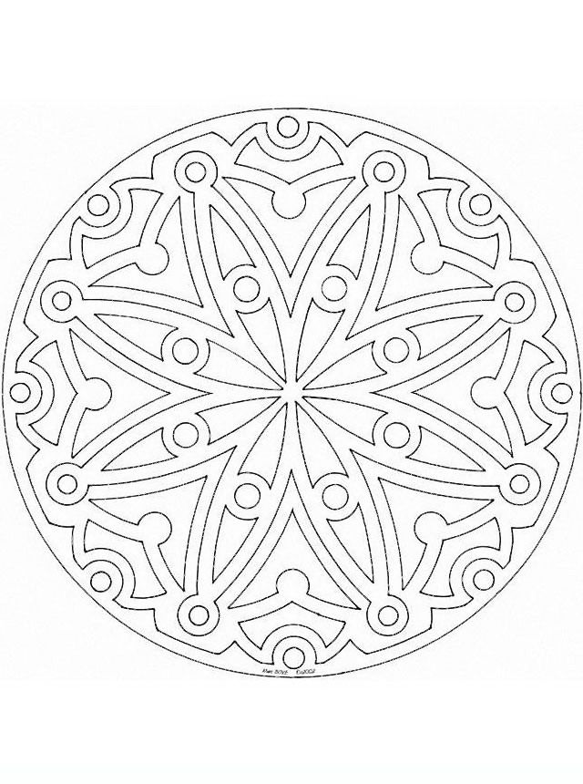 mandala_324 Adult Teenagers coloring pages