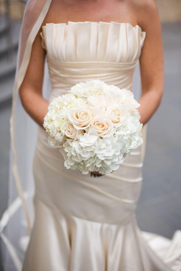 Rose + Hydrangea Bouquet    http://www.stylemepretty.com/illinois-weddings/chicago/2012/05/25/chicago-yacht-club-wedding-by-sarah-postma-photography/ Sarah Postma Photography