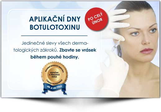 Aplikace Botulotoxinu po celý měsíc únor za snížené ceny. Medical Institut