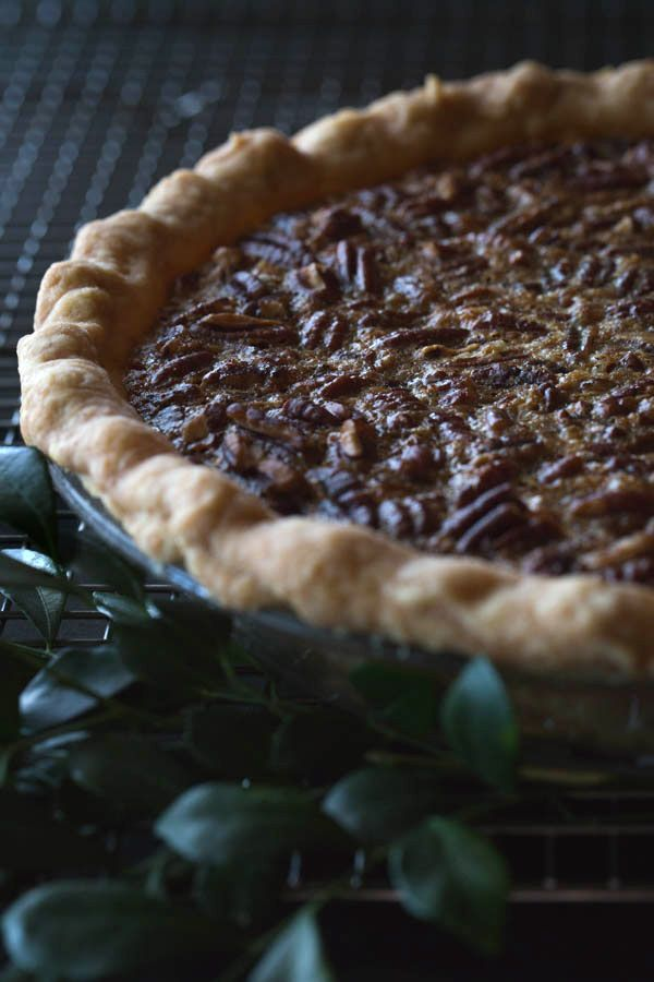 Old-Fashioned Maple Pecan Pie with Bourbon Whipped Cream | Recipe