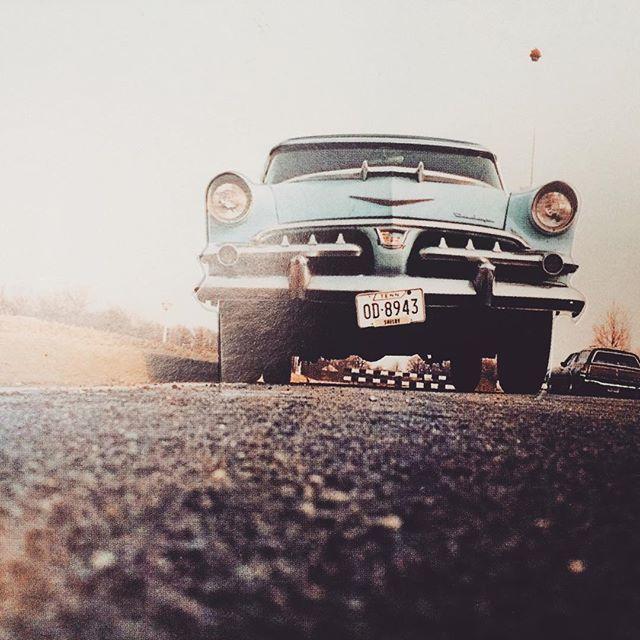 #memphis #car #postcard #blue