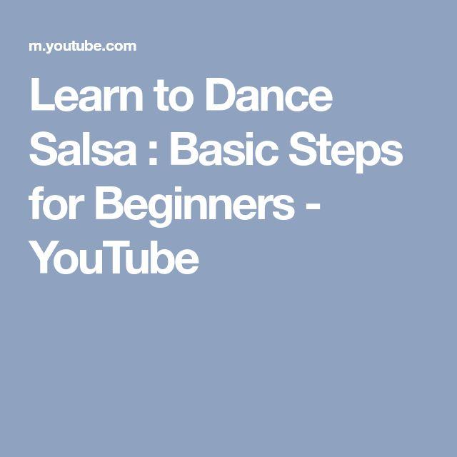 Learn to Dance Salsa : Basic Steps for Beginners - YouTube