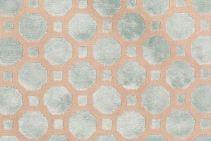 2.6 Yards Robert Allen Velvet Geo Upholstery Fabric in Mineral