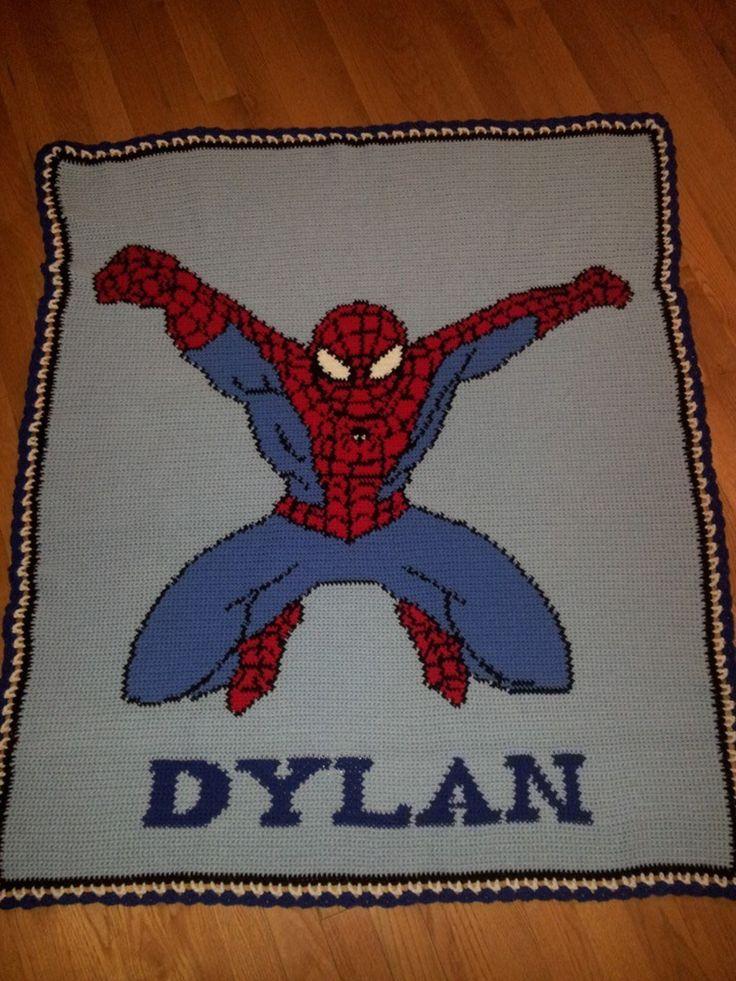 Outstanding Spiderman Crochet Afghan Pattern Frieze - Easy Scarf ...