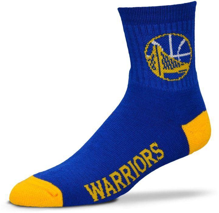 Adult For Bare Feet Golden State Warriors Team Color Quarter-Crew Socks 45a59184d