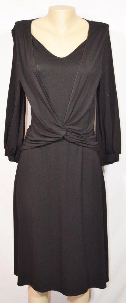 Black jersey knit dress sale