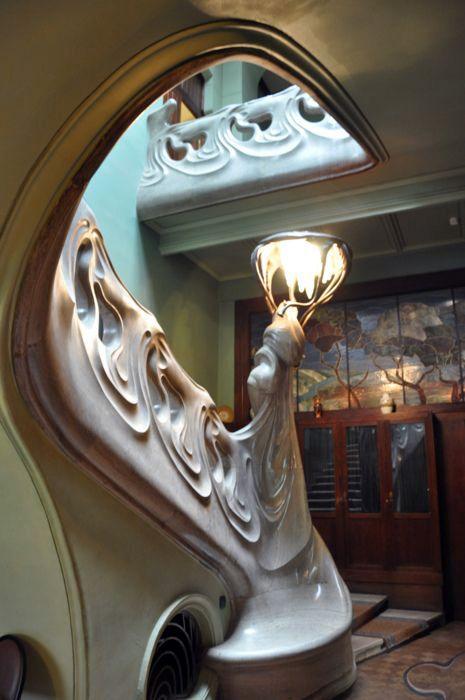 Maison Gorky (Ancien Hôtel Particulier de Wladimir Riabouchinski) - Escalier Intérieur - Architecte F.O Shekhtel - Moscou - 1900-03
