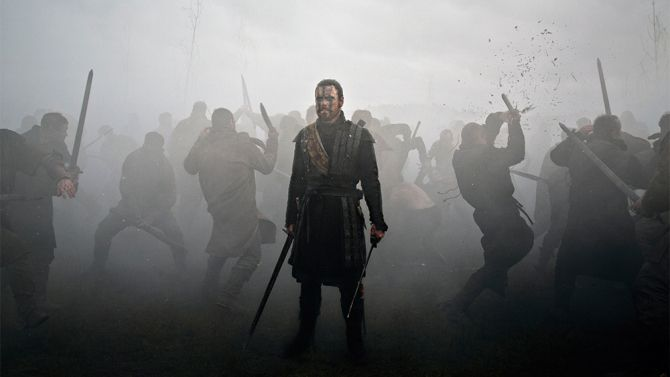 """Cannes Film Review: 'Macbeth' - """"Fassbender may be a grand, seething physical presence, but his vocal delivery is immaculate: As befits a text judiciously edited to evoke a certain tartan terseness, the actor brings an inflamed, animalistic bark even to his most mellifluous monologues."""""""