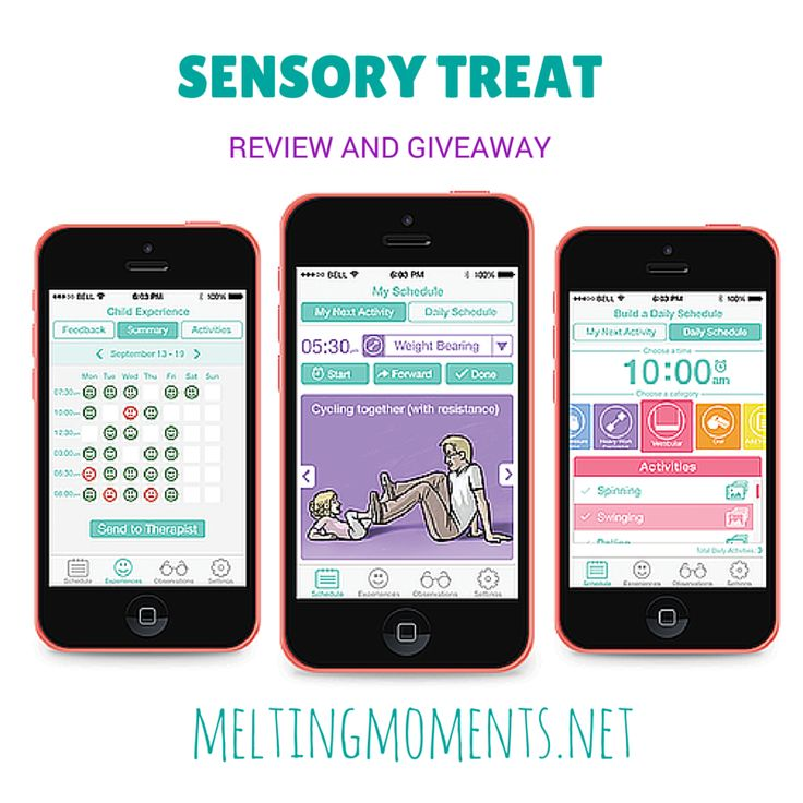 Sensory Treat App {Review and Giveaway} Melting Moments