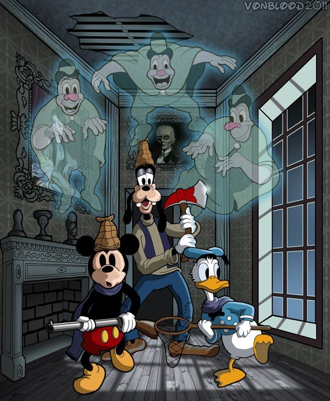 Lonesome Ghosts #disney #goofy; mickey mouse; donald duck