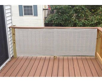 Custom 3 Ft Tall Gray Privacy Fence Deck Mesh Balcony Railing Shade Fabric Deck