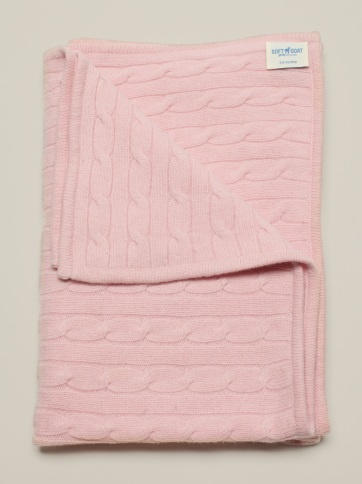 Baby Blanket Light Pink  100 % Cashmere  www.softgoat.com