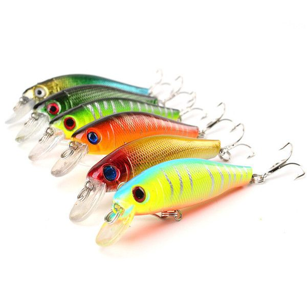 6pcs/lot of Colorful Fishing Lures 8.5CM/8.5G - (FREE + Shipping!)
