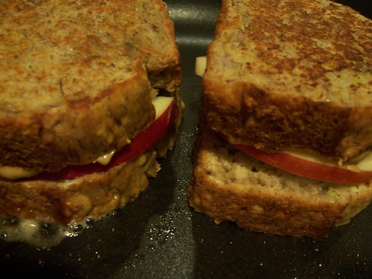 Grilled Peanut Butter and Apple Sandwich - Madison wasn't a big fan ...