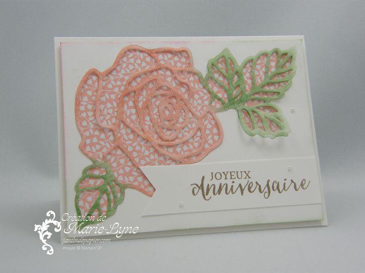 Essence de rose - Stampin'UP! - Scrapbooking Stampin Up Canada | Cartes d'anniversaire et d'invitation | Faire part mariage | Jardin de Papier