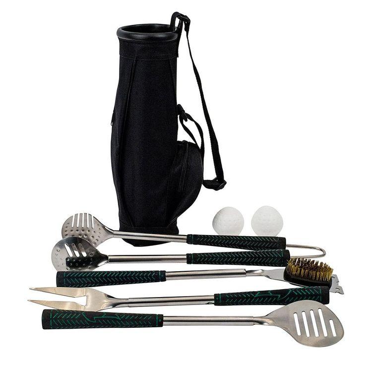 BERKSHIRE Golf BBQ 5pc Set w/Golf Bag Storage Caddy #BerkshireHathaway