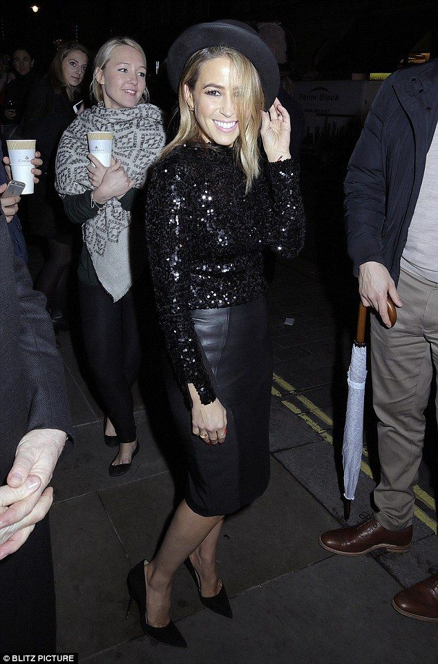 Dazzling: Rachel Stevens got into the festive spirit in a fun sequin top as she switched on the Christmas lights in London's Mayfair on Thursday night
