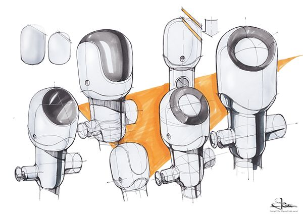 Auto Stool Flusher Design Concept 2014 by Ryu Sihyeong, via Behance