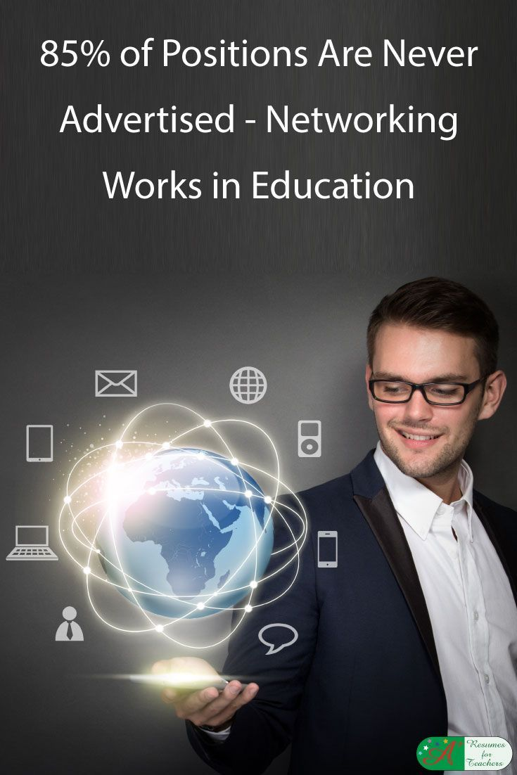 85% of Positions Are Never Advertised – Networking Works in Education via @https://www.pinterest.com/candacedavies1/