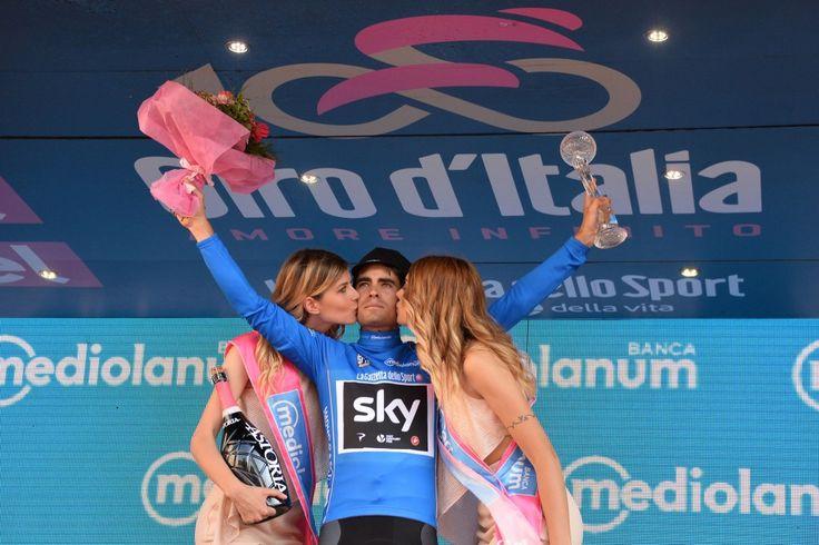Maglia azzurra Giro d'Italia  100a edizione. Classifica scalatori ; Mikel Landa