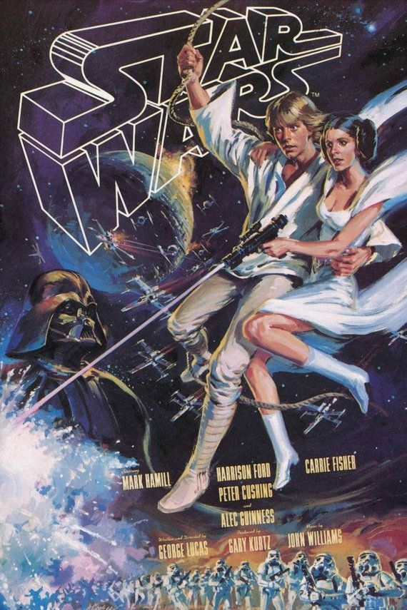 Star Wars Episode Iv A New Hope 70s Movie Poster Print Tech Star Wars Poster Star Wars Painting Star Wars Concept Art