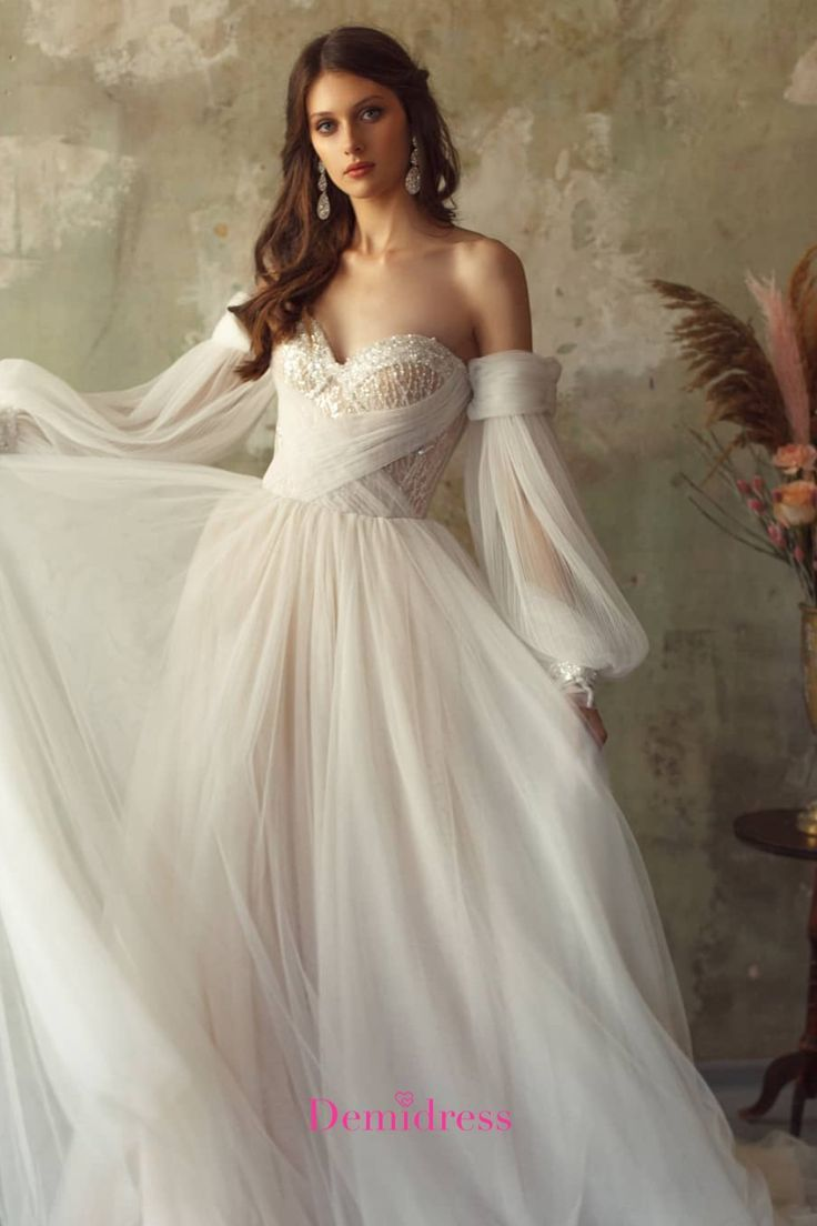 Vencanice I Haljine Za Vencanja In 2020 Wedding Dress Long Sleeve Long Wedding Dresses Tulle Wedding Dress